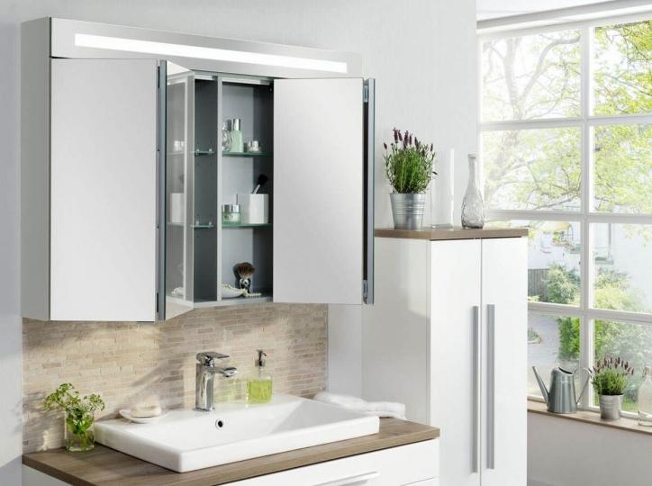 Fackelmann twindy led spiegelschrank 110 cm wei - Spiegelschrank 110 cm ...