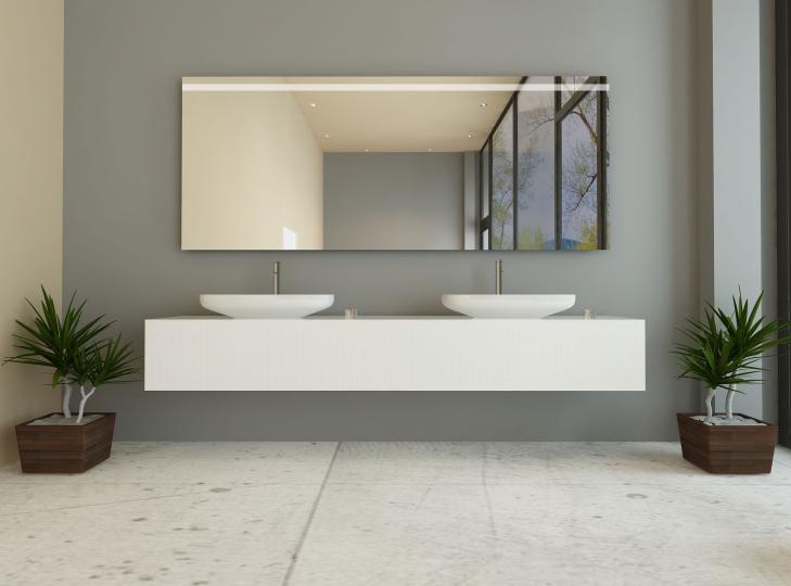 badspiegel mit beleuchtung nach ma oben. Black Bedroom Furniture Sets. Home Design Ideas