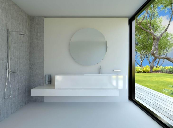 runder spiegel saint gobain mit einer dicke von 5mm. Black Bedroom Furniture Sets. Home Design Ideas