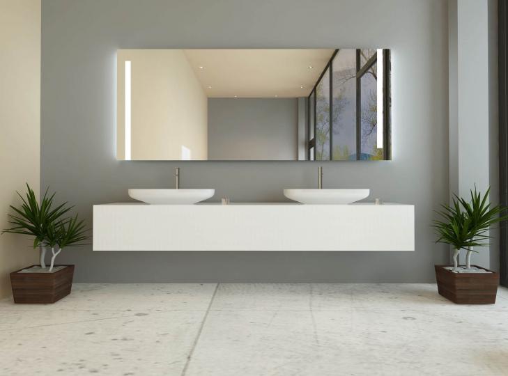heaven ist ein badspiegel mit beidseitiger beleuchtung. Black Bedroom Furniture Sets. Home Design Ideas