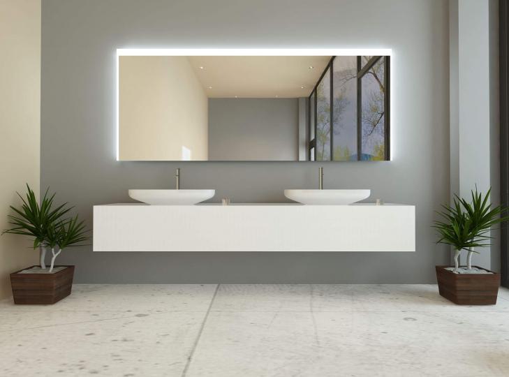 eleiza ist ein badspiegel mit beleuchtung links rechts oben. Black Bedroom Furniture Sets. Home Design Ideas